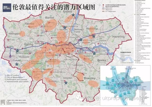 """回复""""潜力通勤区+您的邮箱""""索取高清地图 croydon 日前,伦敦南部近郊"""